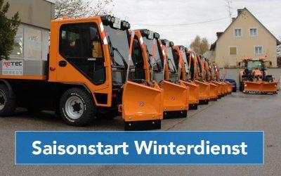 Bestens vorbereitet auf den Winterdienst Saisonstart